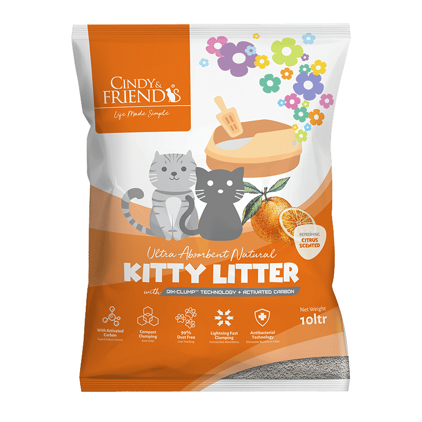 Cindy & Friends Citrus Scented Kitty Litter