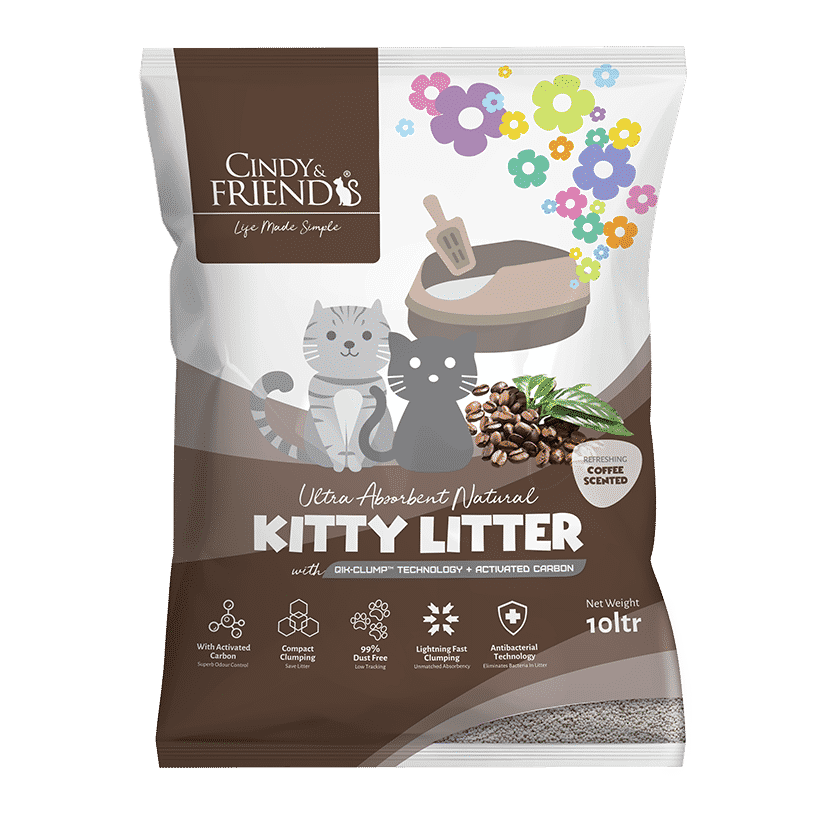 Cindy & Friends Coffee Scented Kitty Litter