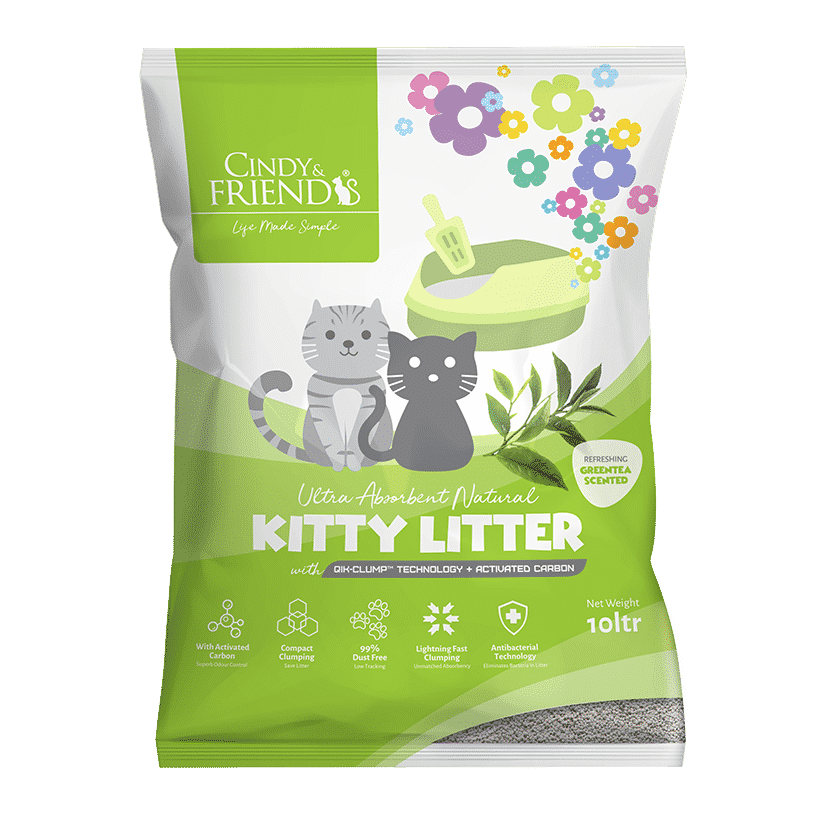 Cindy & Friends Green Tea Scented Kitty Litter