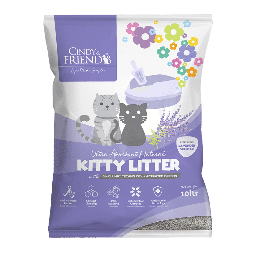 Cindy & Friends Lavender Scented Kitty Litter