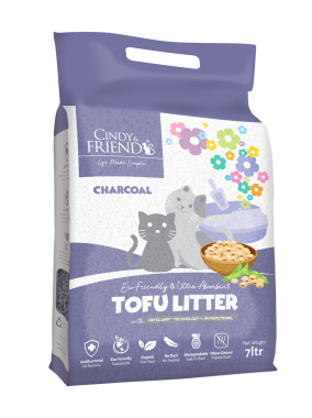 Cindy _ Friends Tofu Litter_Cahrcoal