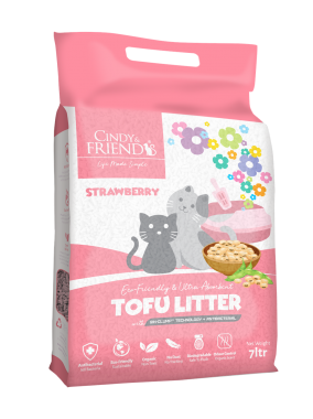 Cindy _ Friends Tofu Litter_Strawberry